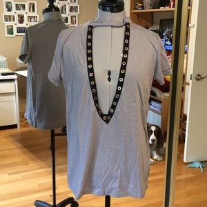Tops - Gray Embellished Tee from LF